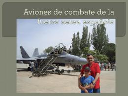 Aviones de combate de la fuerza española