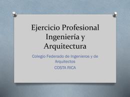 Colegio Federado de Ingenieros y de Arquitectos