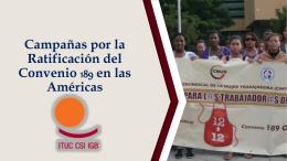 Campañas por la Ratificación del Convenio 189 en las