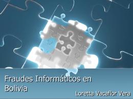 Fraudes Informáticos en Bolivia