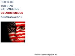 Perfil Turista EEUU que visita Ecuador