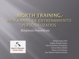 -.North training.- PROGRAMAS DE ENTRENAMIENTO