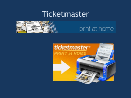 Ticketmaster Print at home