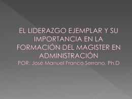 Presentación de PowerPoint - Maestría en Administración-USTA