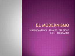 EL MODERNISMO - WagnerDelCastilloFigueroa
