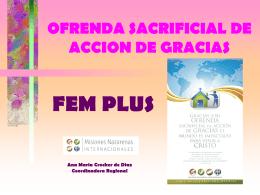 OFRENDA SACRIFICIAL DE ACCION DE GRACIAS