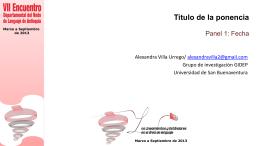 Descarga las diapositivas de la profesora Alexandra Villa
