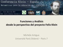 Funciones y Análisis desde la perspectiva del proyecto Felix