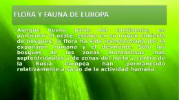 FLORA Y FAUNA DE EUROPA32