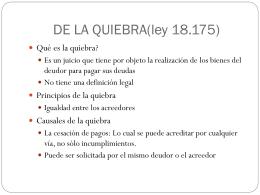 DE LA QUIEBRA(ley 18.175)