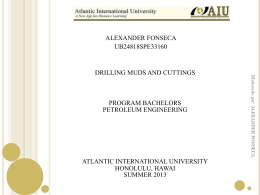 drilling muds and cuttings - Atlantic International University