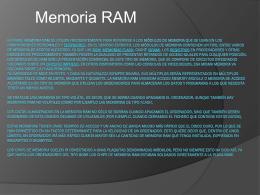 memoria RAM - WordPress.com