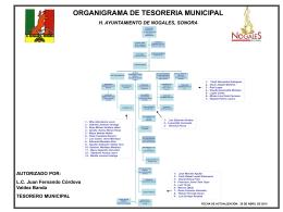 organigrama tesorería municipal (2015)