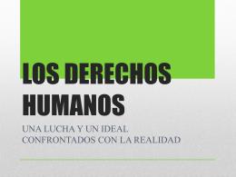 LOS DERECHOS HUMANOSoctubre