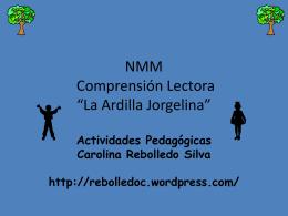 NMM Comprensión La Ardilla Jorgelina