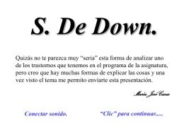 s. down de forma diferente