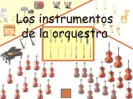 instrumentos de la orquestra