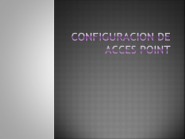 Configuracion de acces point