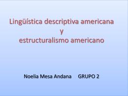 Lingüística descriptiva americana y