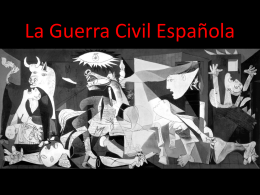 "Powerpoint on ""La Guerra Civil Española"""