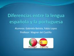 Diferencias y dificultades entre la lengua española y la portuguesa
