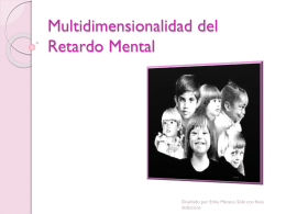 Multidimensionalidad del Retardo Mental