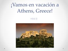¡Vamos en vacación a Athens, Greece!