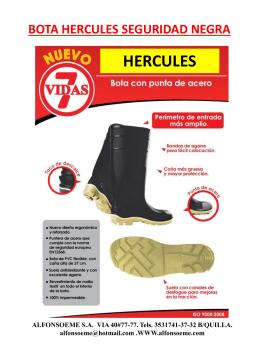 bota hercules resistente blanca con o sin puntera