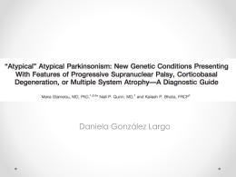 Diferencial Geneticas Parkinsonismos