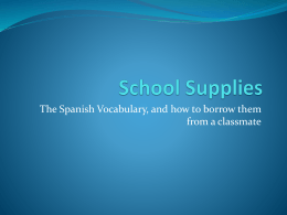 School Supplies - Michelle Fleshman