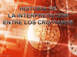 Historia de la Interpretación Cristiana 1