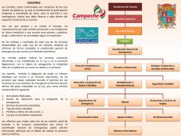 Conformación del Comité de P.C. - Centro Estatal de Emergencias