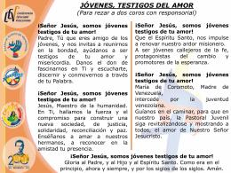Oración ENaJó. PPT - Pastoral Juvenil de Venezuela