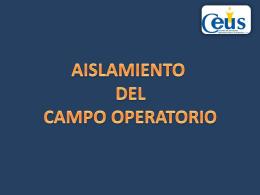 AISLAMIENTO - 3 Odontologia Ceus