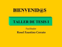 SEMINARIO DE TESIS - Docencia unah-vs