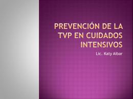 Prevencion de la TVP