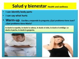 Salud y enfermedades- martes