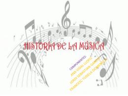 LA HISTORIA DE LA MÚSICA ACTUAL Ana Jordi