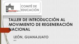 taller de introducción al movimiento de regeneración nacional