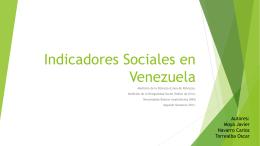 Indicadores Sociales en Venezuela