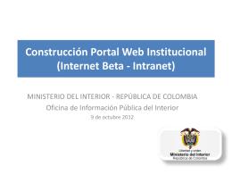 Construcción Portal Web Institucional (Internet
