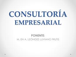 ¿Qué es la Consultoría Empresarial?