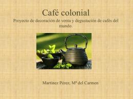 Café colonial proyecto de decoración de venta y