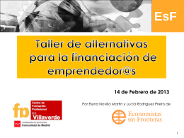 Taller alternativas de financiacion