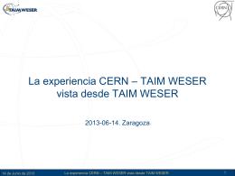 Introducción a TAIM WESER - Indico