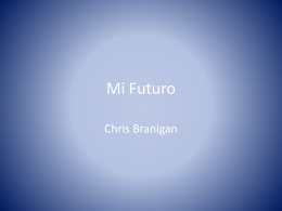 Mi Futuro - Chris-Branigan