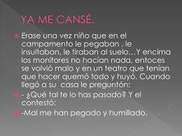 YA ME CANSÉ. - WordPress.com