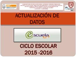Actualizar datos. - Escuela Normal Estefanía Castañeda