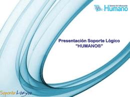 """PRESENTACIÓN SOPORTE LÓGICO """"HUMANO"""""""