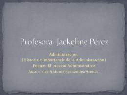 Lic. Jackeline Pérez